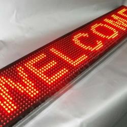 автомобильная бегущая строка красная bx-5u16*64 стандартное разрешение