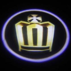 беспроводная подсветка дверей с логотипом crown беспроводная подсветка 7w