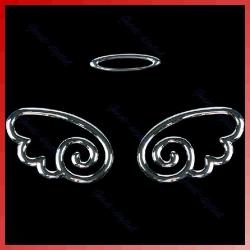 3d крылья ангела на логотип автомобиля наклейки