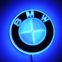 4D светящийся логотип BMW car