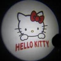 Внешняя подсветка дверей с логотипом Hello Kitty 5W