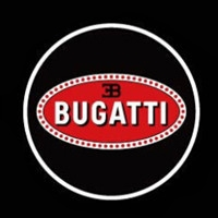 Подсветка дверей с логотипом Bugatti 9W mini