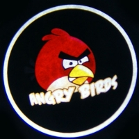 Внешняя подсветка дверей с логотипом ANGRY BIRDS 7W