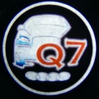 Внешняя подсветка дверей с логотипом AUDI Q7 7W