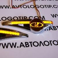Светодиодный поворотник с логотипом VAZ