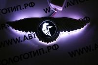 Светящийся логотип Kamaz с крыльями