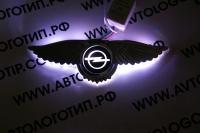 Светящийся логотип Opel с крыльями