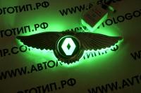 Светящийся логотип Renault с крыльями