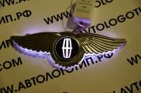 Светящийся логотип Lincoln с крыльями