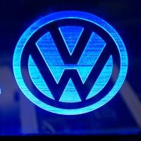 Светящаяся табличка Volkswagen 3D