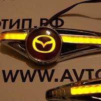Светодиодный поворотник с логотипом MAZDA