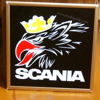 Светящийся логотип SCANIA