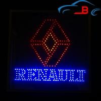 Светящийся зеркальный логотип в грузовик RENAULT