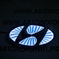 3D светящийся логотип Hyundai 10,2*5,2 см