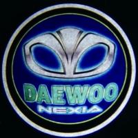 Внешняя подсветка дверей с логотипом Daewoo nexia 7W
