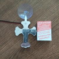 Светодиодный крест мини с гравировкой