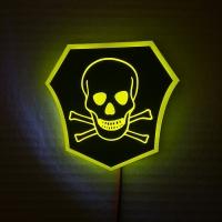 Светящийся логотип смертельно опасно