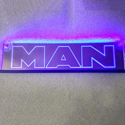 Зеркальная табличка MAN 2D гравировка