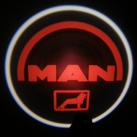 Беспроводная подсветка дверей с логотипом Man