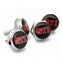 Болты крепления гос номера с логотипом GTI