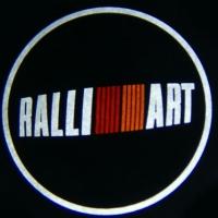 Беспроводная подсветка дверей с логотипом RalliArt