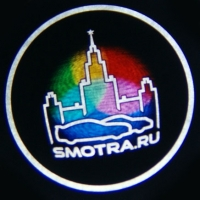 Беспроводная подсветка дверей с логотипом SMOTRA RU