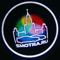 Беспроводная подсветка дверей с логотипом SMOTRA RU 5W
