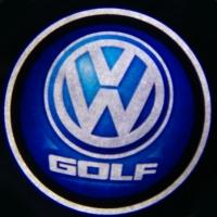 Беспроводная подсветка дверей с логотипом Volkswagen GOLG 5W