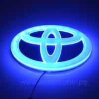 4D светящийся логотип TOYOTA 11*7,5 см
