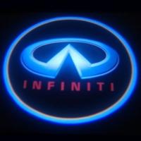 Внешняя подсветка дверей логотипом Infiniti 7W