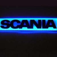 Светящаяся неоновая табличка Scania