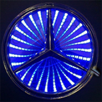 3D светящийся логотип MERCEDES