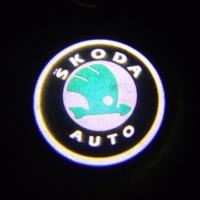 Подсветка дверей с логотипом Skoda 5W mini