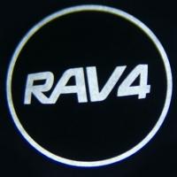 Беспроводная подсветка дверей с логотипом toyota rav4