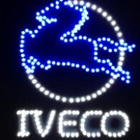 Светящийся логотип для грузовика IVECO